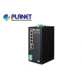 IP30 Industrial Renewable Energy 4-Port 10/100/1000T 802.3at PoE+ Managed Ethernet Switch. (-10 to 60 degree C, 4-Port Gigabit 802.3at PoE+ injector + 1-Port Gigabit Ethernet; 24V/1A DC output, Web Echipamente Active