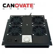 Tava cu 2 ventilatoare si termostat pentru rackurile floor-standing,