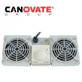 """Tava cu 2 ventilatoare si termostat pentru rackurile wall-mount DULAPURI  DE  COMUNICATIE 19"""""""
