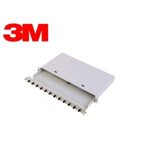 Patch Panel 1U cu 12 SC Simplex SM with Couplers-ECO Solutii Fibra Optica