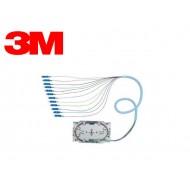 12 LC PIGTAILS 50/125 2M W/DIN-CASETTE