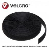 Banda taiata la dimensiune Velcro® ONE-WRAP®, negru, 10x150mm (1200buc/rola)