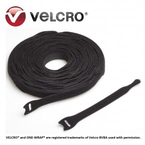 Velcro® ONE-WRAP® strap, negru, 13x200mm (250 buc/rola) Solutii Management Cabluri