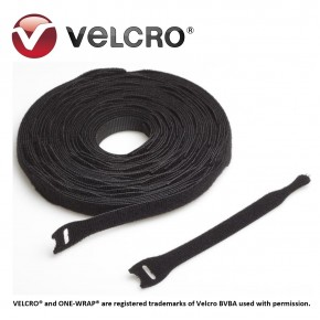 Velcro® ONE-WRAP® strap, negru, 20x230mm (250 buc/rola) Solutii Management Cabluri