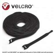 Velcro® ONE-WRAP® strap, negru, 25x300mm (500 buc/rola)