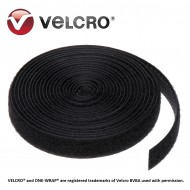 Banda Velcro® ONE-WRAP®, negru, 20mm (rola 25m)
