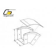 Cot vertical exterior (coborare) 45° 300mm galben