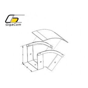 Cot vertical exterior (coborare) 45° 50mm galben Solutii Management Cabluri