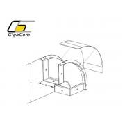 Cot vertical exterior (coborare) 90° 200mm galben