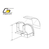 Cot vertical exterior (coborare) 90° 50mm galben