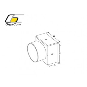 End Cap 50mm Single Tube Outlet 50mm tube Solutii Management Cabluri