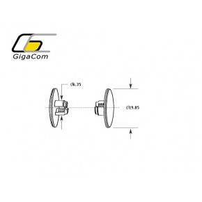 Plastic Barbed Rivet 100pcs/bag - Black Solutii Management Cabluri