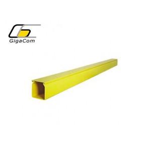 Canal solid inclusiv capac 50mm/50mm, 1.8m, galben Solutii Management Cabluri