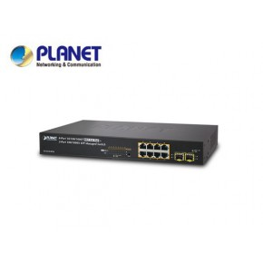 IPv4/IPv6, 8-Port Managed 802.3at POE+ Gigabit Ethernet Switch  + 2-Port 100/1000X SFP (120W) Echipamente Active