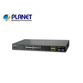 GS-5220-16T4S2XR: L2+/L4 16-Port 10/100/1000T + 4-port 100/1000X SFP + 2-Port 10G SFP+ Managed Switch, with Hardware Layer3 IPv4/IPv6 Static Routing, W/ 48V Redundant Power Echipamente Active