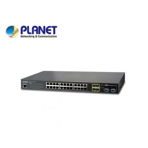 GS-5220-20T4C4X: L2+/L4 20-Port 10/100/1000T + 4-port Gigabit TP/SFP combo + 4-Port 10G SFP+ Managed Switch, with Hardware Layer3 IPv46/IPv6 Static Routing Echipamente Active