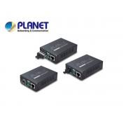 10/100/1000Base-T to WDM Bi-directional Fiber Converter - 1550nm - 15KM