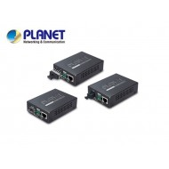 10/100/1000Base-T to WDM Bi-directional Fiber Converter - 1550nm - 60KM