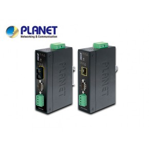 IP30 Industrial RS232/RS-422/RS485 to 100Base-FX Fiber Optic (SFP) Converter Echipamente Active