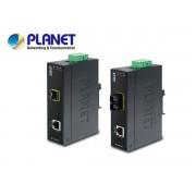 IP30 Slim type Industrial Fast Ethernet Media Converter SFP (-40 to 75 degree C)