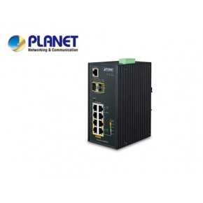 IP30 Industrial L2/L4 4-Port 10/100/1000T 802.3at PoE + 4-Port 10/100/100T + 2-Port 100/1000X SFP Managed Switch (-40 to75 degrees C), dual redundant power input on 48~56VDC terminal block, SNMPv3, Echipamente Active