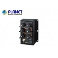 IP50 Industrial L2+ 4-Port 10/100/1000T 802.3at PoE + 2-Port 10/100/1000T Managed Ethernet Switch(-40 to75 degrees C) , ERPS Ring, 1588, 6 x waterproof RJ45 connectors included
