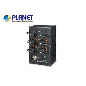 IP67-rated Industrial L2+ 4-Port 10/100/1000T 802.3at PoE + 2-Port 10/100/1000T Managed Ethernet Switch(-40 to75 degrees C), ERPS Ring, 1588,  6 x waterproof RJ45 connectors included Echipamente Active