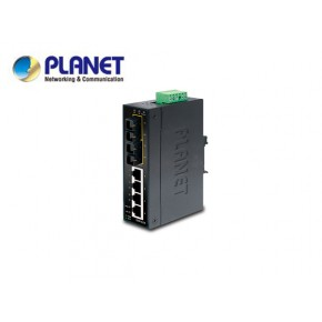 IP30 Slim Type 4-Port Industrial Ethernet Switch + 2-Port 100Base-FX(15KM) (-10 - 60 C) Echipamente Active