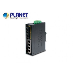 IP30 Slim Type 4-Port Industrial Ethernet Switch + 2-Port 100Base-FX(15KM) (-40 - 75 C) Echipamente Active