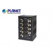 IP67 rated 8-Port 10/100Mbps M12 Fast Ethernet Switch (-40 to 75 degree C)