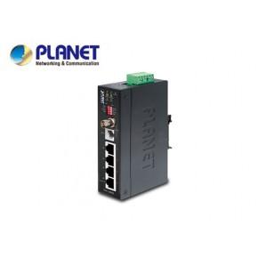 IP30 Industrial Ethernet Extender, 4-Port RJ45 (LAN), 1-Port BNC, 1-Port RJ11 (-40 to 75C) Echipamente Active