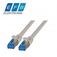 Patch cord cat.6A S/FTP, 2xRJ45, 500MHz, LSZH, 0.5m gri