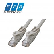 Patch cord cat.6 U/UTP, 2xRJ45, 250MHz, LSZH, 0,25m gri.