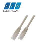 Patch cord cat.5e U/UTP, 2xRJ45, 100MHz, PVC, 0.5m gri