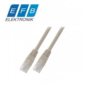 Patch cord cat.5e U/UTP, 2xRJ45, 100MHz, PVC, 10m gri