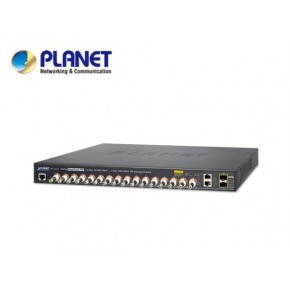 IPv4/IPv6, 16-Port Coax + 2-Port 10/100/1000T + 2-Port 100/1000X SFP Long Reach POE over Coaxial Managed Switch (440W) Echipamente Active