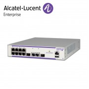 Alcatel-Lucent OmniSwitch 6350 8 porturi PoE+ RJ-45 10/100/1000 BaseT, 2 porturi SFP/RJ-45 combo