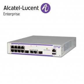 Alcatel-Lucent OmniSwitch 6350 8 porturi PoE+ RJ-45 10/100/1000 BaseT, 2 porturi SFP/RJ-45 combo Echipamente Networking