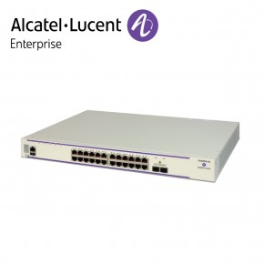 Alcatel-Lucent OmniSwitch 6450 24 porturi PoE 10/100/1000BaseT, 2 fixed SFP+ 1G/10G ports, 1 expansion slot. 10G uplink speed enabled. Echipamente Networking
