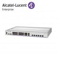 Alcatel-Lucent OmniSwitch 6465 industrial GigE fan-less 22x10/100/1000Base-T PoE+ ports(8x60W), 2x100/1000 Base-X SFP, 4x 1G/10G SFP+
