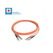 Patch cord LC/PC-LC/PC MM50/125 duplex 2.0mm standard color LSZH jacket cable, (L)m