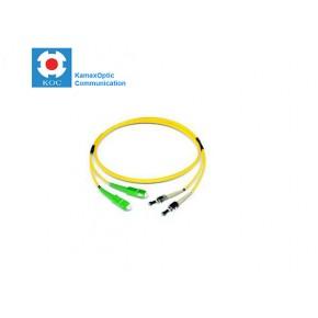 Patch cord SC/APC-ST/PC SM9/125 duplex 2.0mm standard color LSZH jacket cable, (L)m Solutii Fibra Optica