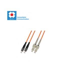 Patch cord SC/PC-FC/PC MM50/125 duplex 2.0mm standard color LSZH jacket cable, (L)m Solutii Fibra Optica