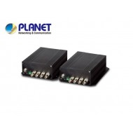4-Channel 4-in-1 Video over Fiber(FC) converter up to 20KM, a pair include Tx & Rx in package (TVI/CVI/AHD/CVBS)