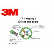 Cablu cat. 6 100 ohms UTP, manta PVC 4 perechi (305 m cutie)