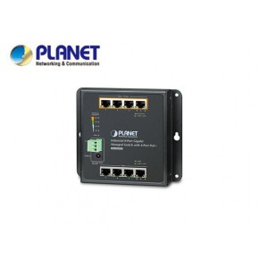 IP30, IPv6/IPv4, 8-Port 1000TP Wall-mount Managed Ethernet Switch with 4-Port 802.3AT POE+ (-40 to 75 C), dual redundant power input on 48-56VDC terminal block and power jack, SNMPv3, 802.1Q VLAN, Echipamente Active