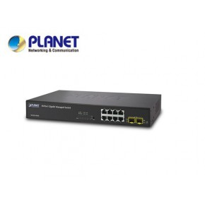 IPv6, 8-Port Gigabit TP + 2-Port SFP Layer 2+/4 SNMP Managed Switch Echipamente Active