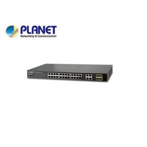 IPv4/IPv6, 28-Port SNMP Manageable Gigabit Switch (24 + 4-Port SFP) Echipamente Active